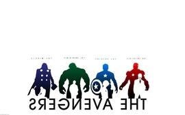 Hulk comic character iron man thor captain america silhouette wallpaper