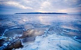 Ice landscapes winter season frozen arctic wallpaper
