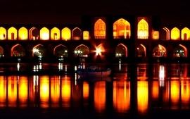 Iran khaju bridge isfahan 2 wallpaper