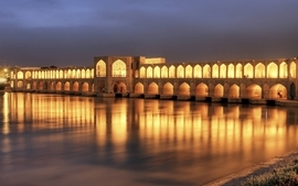 Iran khaju bridge isfahan wallpaper