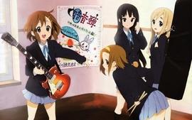 Kon school uniforms hirasawa yui akiyama mio tainaka ritsu wallpaper