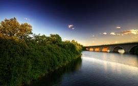Landscapes bridges rivers 2 wallpaper
