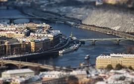 Landscapes cityscapes tiltshift rivers wallpaper