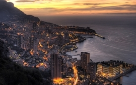 Landscapes coast cityscapes city lights wallpaper