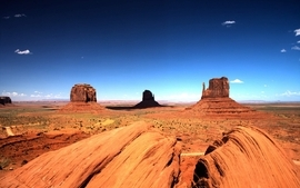 Landscapes desert arizona monument valley rock formations 2 wallpaper