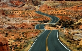 Landscapes desert roads wallpaper