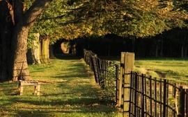 Landscapes fences wallpaper