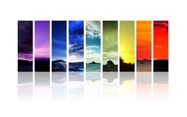 Landscapes multicolor barcode wallpaper