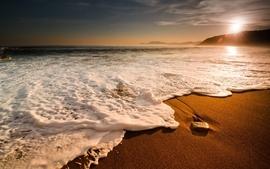 Landscapes nature beach sand sea shore wallpaper