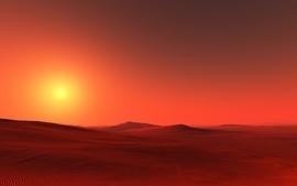 Landscapes nature desert digital art skyscapes wallpaper