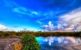Landscapes nature hdr photography blue skies wallpaper