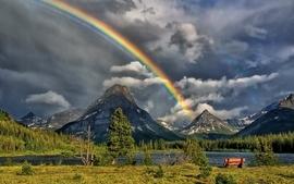 Landscapes nature rainbows skies wallpaper