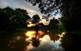 Landscapes nature summer evenings reflections wallpaper
