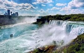 Landscapes nature usa new york city niagara falls waterfalls wallpaper