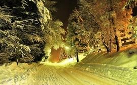 Landscapes nature winter roads wallpaper