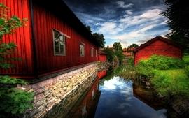 Landscapes photography buildings village wallpaper