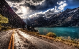 Landscapes roads hdr photography wallpaper