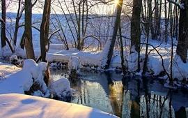 Landscapes snow artwork wallpaper
