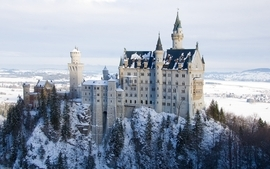 Landscapes snow castles neuschwanstein castle wallpaper