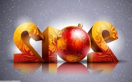 Landscapes text christmas new year 2012 holidays wallpaper