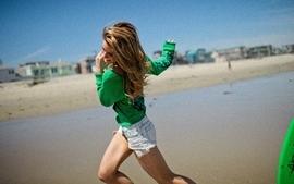 Legs women denim shorts wallpaper