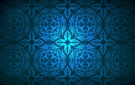 Light blue shapes turkey artwork antique ceramic wallpaper