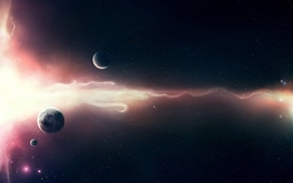 Light outer space planets 2 wallpaper
