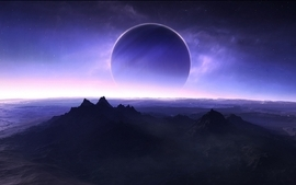 Light outer space planets wallpaper