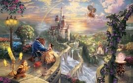 Love castles movies fantasy art beast magic rainbows vehicles wallpaper