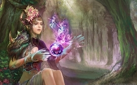 Mage fantasy art wallpaper