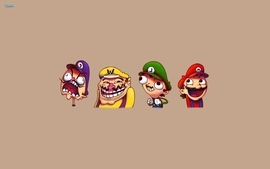 Mario meme luigi wario trollface awesome face rageface wallpaper