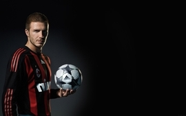 Men david beckham athletes soccer balls football stars fc milan wallpaper
