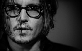 Men grayscale johnny depp actors faces hair in face men with wallpaper