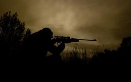 Military hunter shooter wallpaper