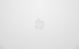 Minimalistic apple inc logos wallpaper