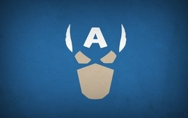 Minimalistic captain america superheroes marvel comics blue wallpaper