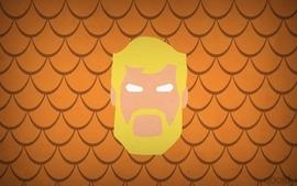 Minimalistic dc comics heroes aquaman blo0p wallpaper