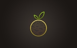 Minimalistic fruits 2 wallpaper
