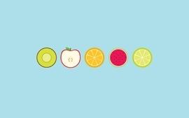 Minimalistic fruits wallpaper