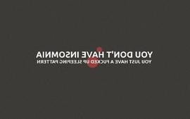 Minimalistic humor typography wallpaper