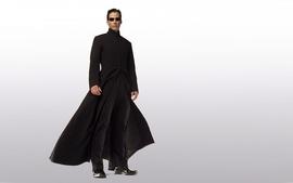Minimalistic movies suit neo matrix sunglasses keanu reeves wallpaper