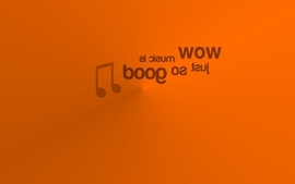 Minimalistic music orange typography jew text only simple wallpaper