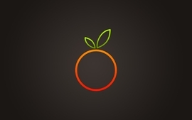 Minimalistic orange fruits wallpaper
