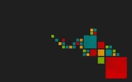 Minimalistic pixels windows 8 de stijl wallpaper