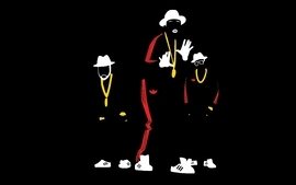 Minimalistic rap rum run dmc wallpaper