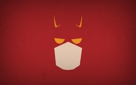 Minimalistic superheroes daredevil marvel comics red background wallpaper