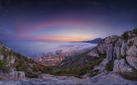 Monaco Summer Sunrise wallpaper