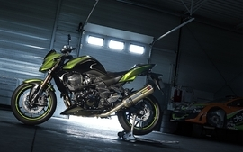 Motorbikes garages wallpaper