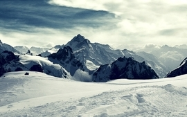 Mountains clouds landscapes nature winter snow white skyscapes wallpaper