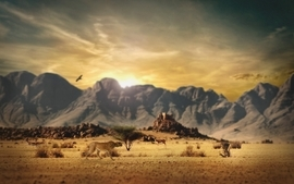 Mountains landscapes animals tiltshift skyscapes wallpaper